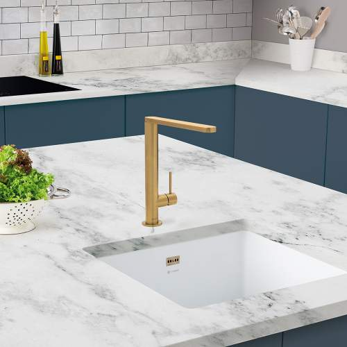 Caple KARNS Single Lever Kitchen Tap in Gold KAR/GD