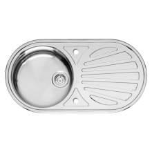 Reginox GALICIA Single Bowl Kitchen Sink and Round Drainer