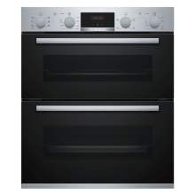 Bosch Serie 4 NBS533BS0B Stainless Steel Built-Under Compact Double Oven