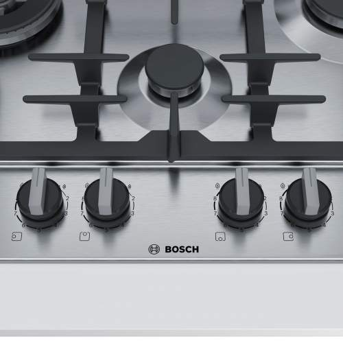 Bosch Serie 6 PCI6A5B90 60 cm Stainless Steel Gas Hob