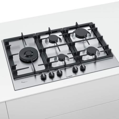 Bosch Serie 6 PCS7A5B90 75 cm Stainless Steel Gas Hob