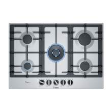 Bosch Serie 6 PCQ7A5B90 75 cm Stainless Steel Gas Hob
