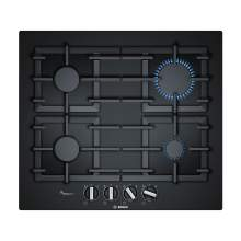 Bosch Serie 6 PPP6A6B90 60cm Tempered Black Glass Gas Hob