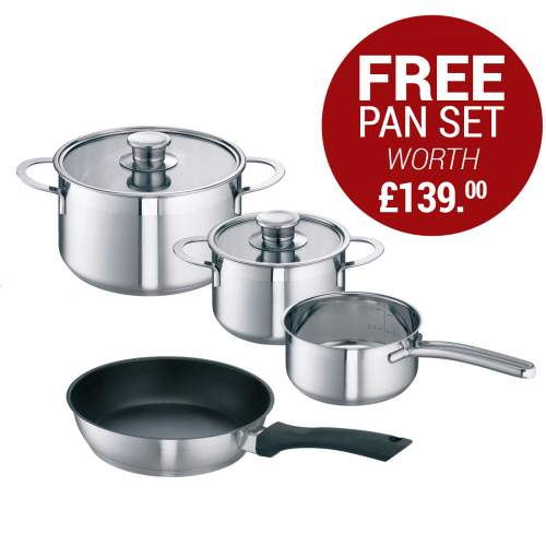 Free Bosch Induction Pan Set worth £139