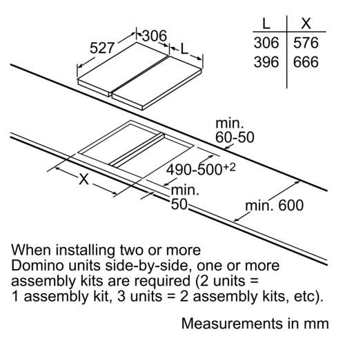 Bosch HEZ394301 Domino Hob Connecting Strip