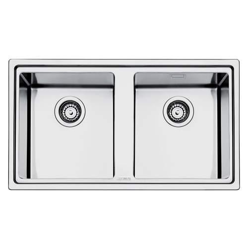 Smeg Mira LD862 Low Profile Inset Double Bowl Sink