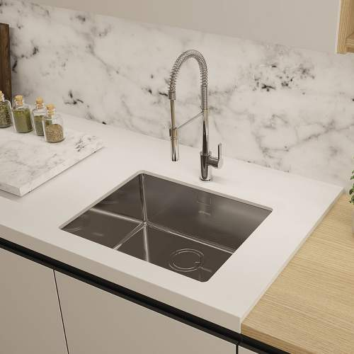 Smeg Mira VSTR50-2 50cm Undermount Single Bowl Sink