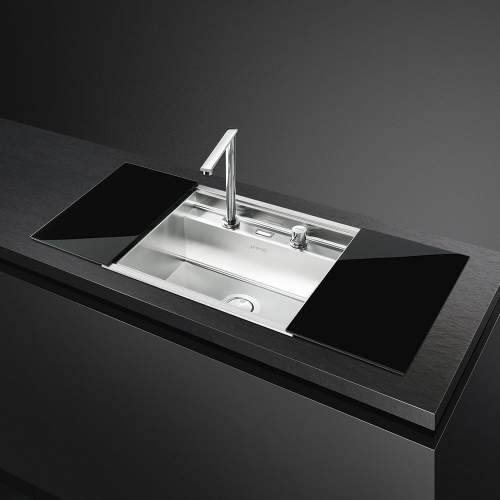 Smeg Linea VQMX60N2 1.0 Bowl Sink with Retractable Tap and Sliding Chopping Boards