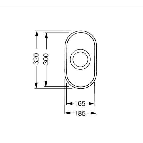 Smeg Alba UM16 Undermount Half Bowl Sink
