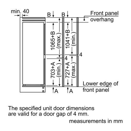 Bosch Serie 6 KIN86AD30G Built-In Fridge Freezer