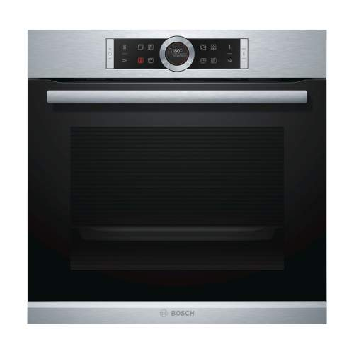 Bosch Serie 8 HRG635BS1B Stainless Steel Built-In Single Oven with Added Steam Function