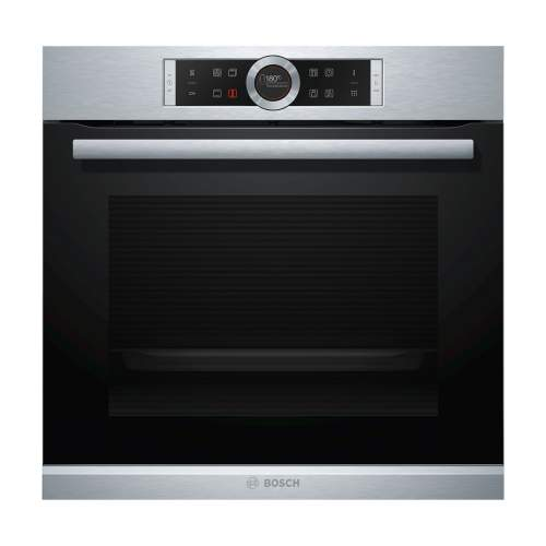 Bosch Serie 8 HBG674BS1B Stainless Steel Built-In Pyrolytic Single Oven