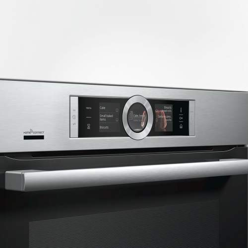 Bosch Serie 8 HRG6769S6B Built-In Single Oven with Steam Function