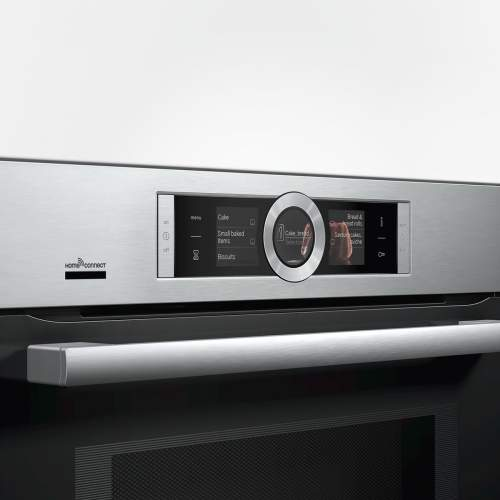 Bosch Serie 8 CMG676BS6B Built-In Compact Combination Microwave Oven