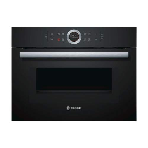Bosch Serie 8 CMG633BB1B Black Built-In Compact Combination Oven