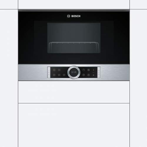 Bosch Serie 8 BEL634GS1B 39cm Built-In Microwave Oven with Grill