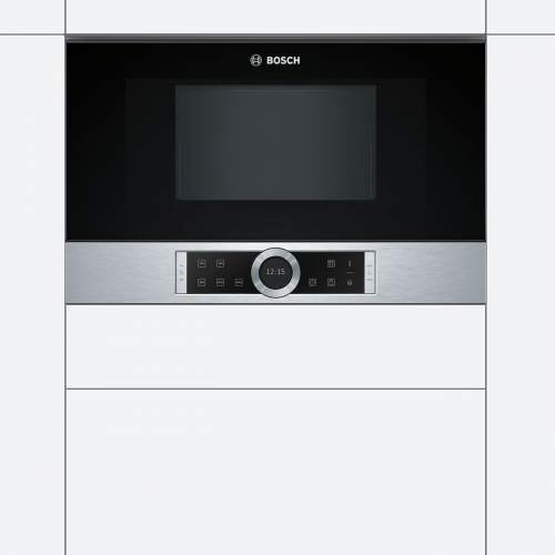 Bosch Serie 8 BFL634GS1B 39cm Stainless Steel Built-In Microwave Oven