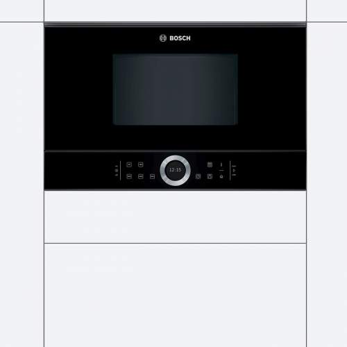 Bosch Serie 8 BFL634GB1B 39cm Black Built-In Microwave Oven