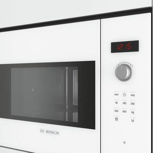 Bosch Serie 4 BFL553MW0B 38cm White Built-In Microwave Oven