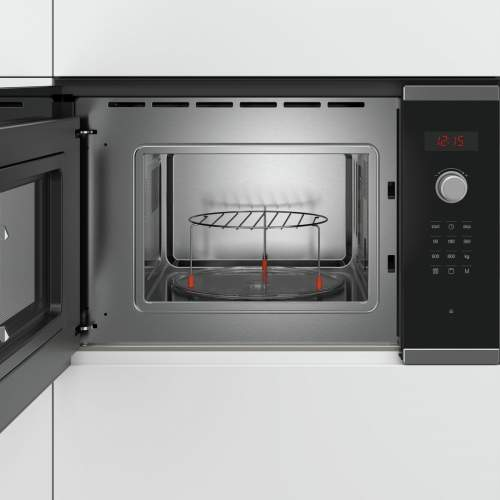 Bosch Serie 4 BEL523MS0B Stainless Steel Built-In Microwave Oven with Grill