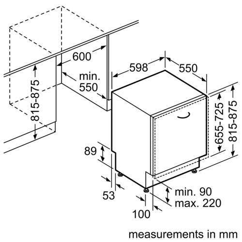 Bosch Serie 4 SMV50C10GB 60cm Fully-Integrated Dishwasher