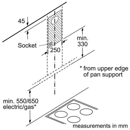 Bosch Serie 2 DWG64BC50B 60cm Wall-Mounted Cooker Hood