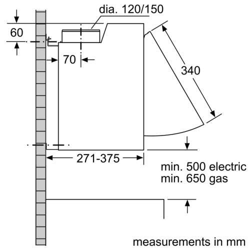 Bosch Serie 2 DEM63AC00B 60cm Integrated Cooker Hood