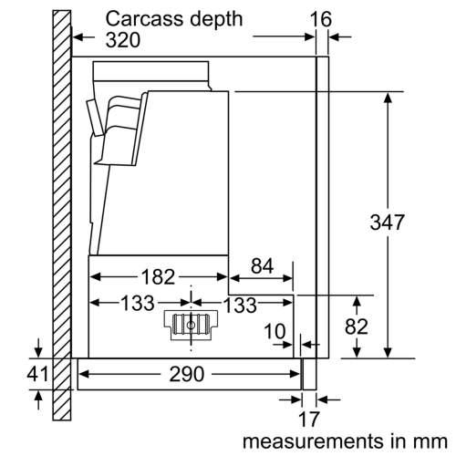 Bosch Serie 4 DFS097A50B 90cm Telescopic Cooker Hood