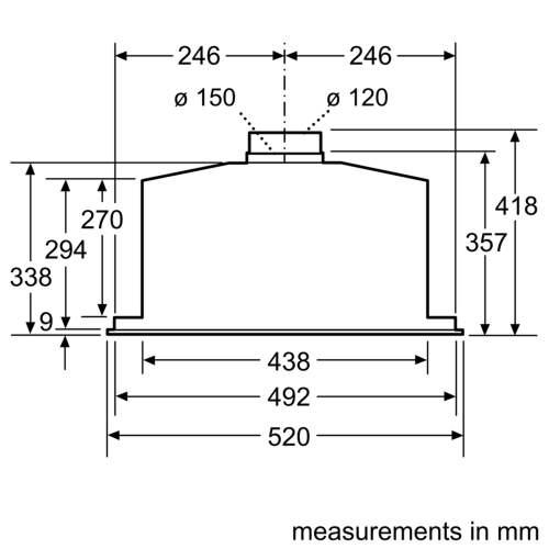 Bosch Serie 6 DHL575CGB 52cm Canopy Cooker Hood