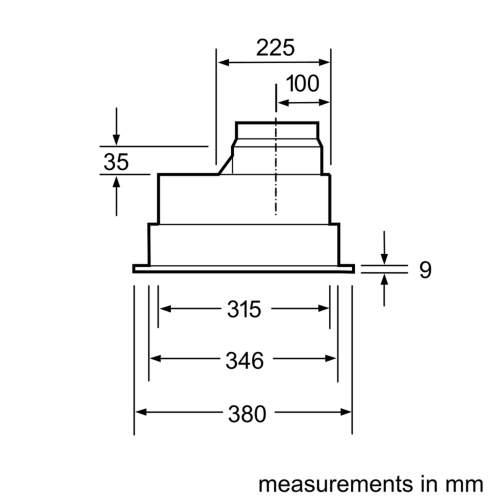 Bosch Serie 4 DHL555BLGB 53cm Canopy Cooker Hood
