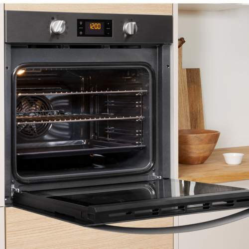 Indesit Aria IFW 4844 H BL UK Electric Single Built-in Oven with Steam Clean Function