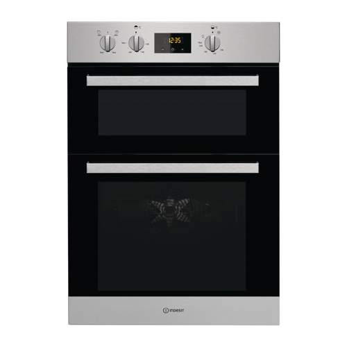 Indesit Aria IDD 6340 IX Stainless Steel Electric Double Built-in Fan Oven