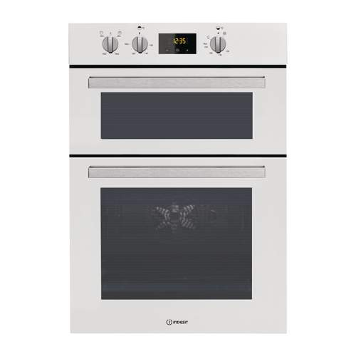Indesit Aria IDD 6340 WH White Electric Double Built-in Fan Oven