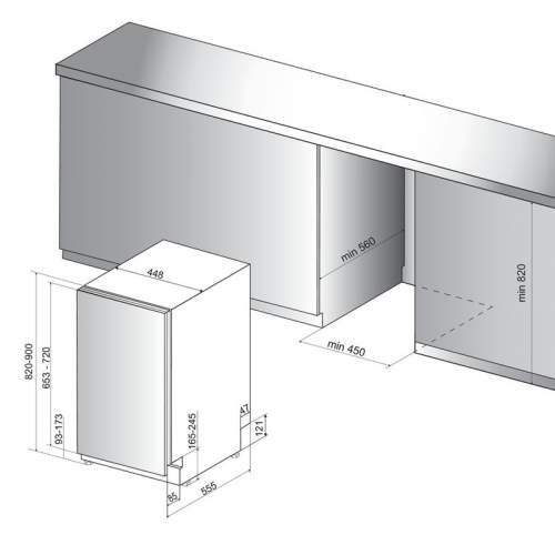 Indesit DSIE2B10UK 45cm Slim Integrated Dishwasher