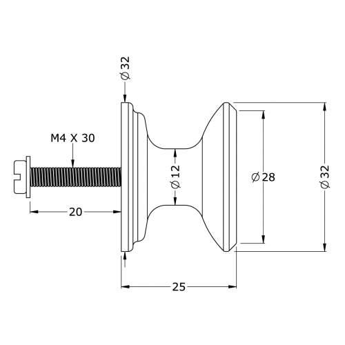 Perrin & Rowe 6090 Large Concave Furniture Drawer Handle