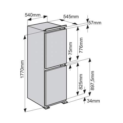 Indesit EIB15050A1D 50/50 Integrated Fridge Freezer