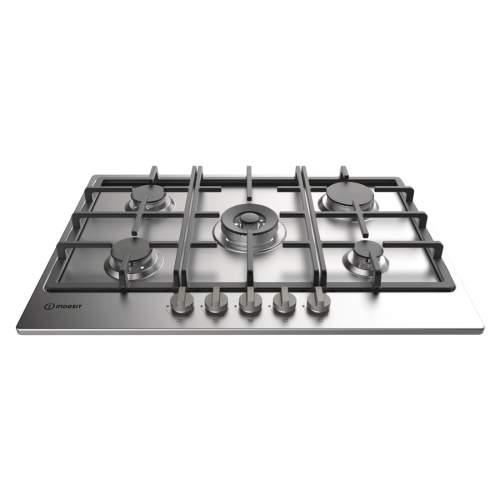 Indesit THP751WIXI 75cm Stainless Steel 5 Burner Gas Hob