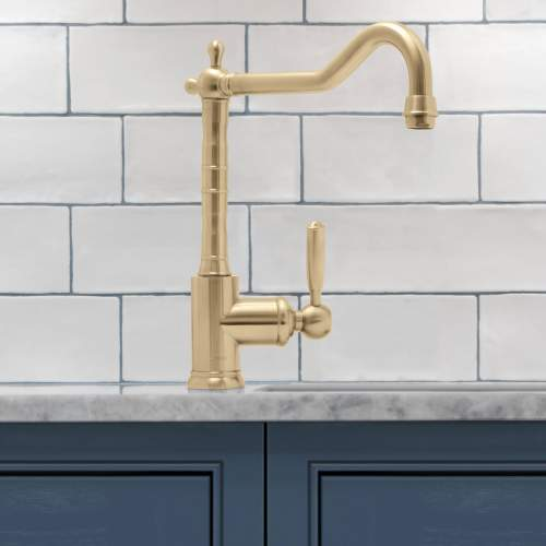 Caple Frampton Traditional Style Antique Brass Single Lever Kitchen Tap
