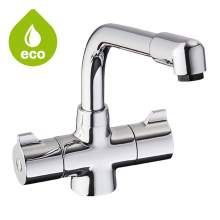 Bluci Aveto Eco Twin Handle Monobloc Tap
