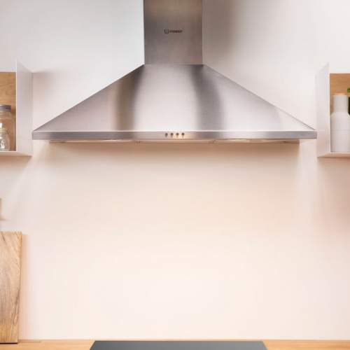Indesit IHPC9.4LMX 90cm Stainless Steel Pyramid Cooker Hood