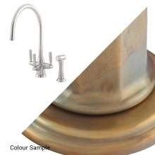 1580 METIS Mixer Tap with Lever Handles & Rinse