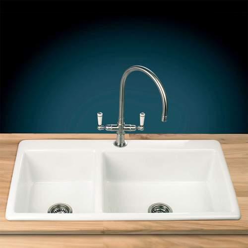 Thomas Denby Bistro 1.75 Bowl Ceramic Inset Sink
