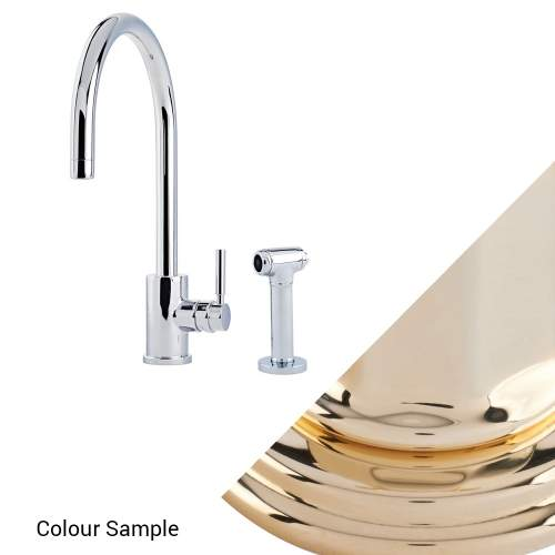 Perrin and Rowe Juliet 4012 Sink Mixer with C-Spout and Rinse