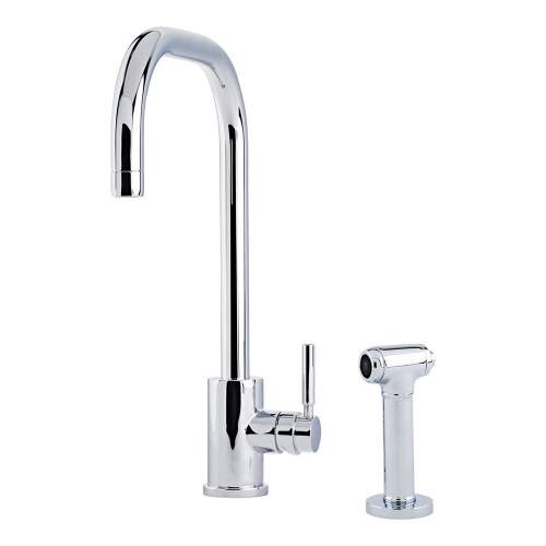 Perrin and Rowe Juliet 4014 Sink Mixer with U-Spout and Rinse