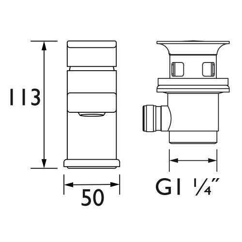 Bristan Cobalt Basin Mixer with Clicker Waste