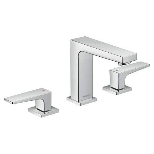 Hansgrohe Metropol 3-Hole Basin Mixer 110 with push-open waste