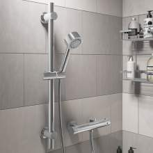 RDMV03 Round Thermostatic Bar Valve and Slide Rail Shower Bundle