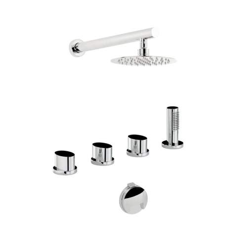 Abode AB3105 Debut Thermostatic Deck Mounted Bath Overflow Filler Kit