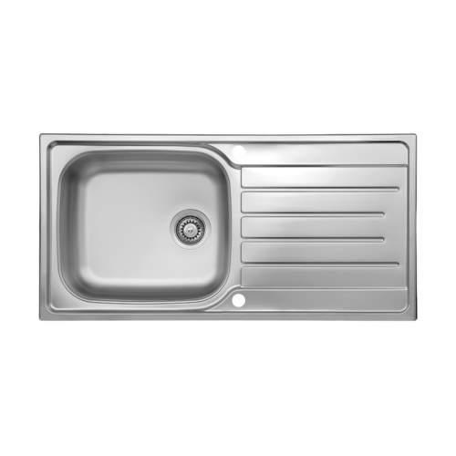 Reginox Daytona Reversible Stainless Steel 1.0 Bowl Inset Sink