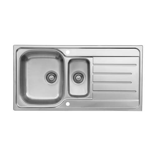 Reginox Le Mans Reversible Stainless Steel 1.5 Bowl Inset Sink and Drainer